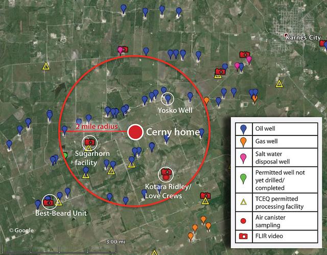 map tx fracking